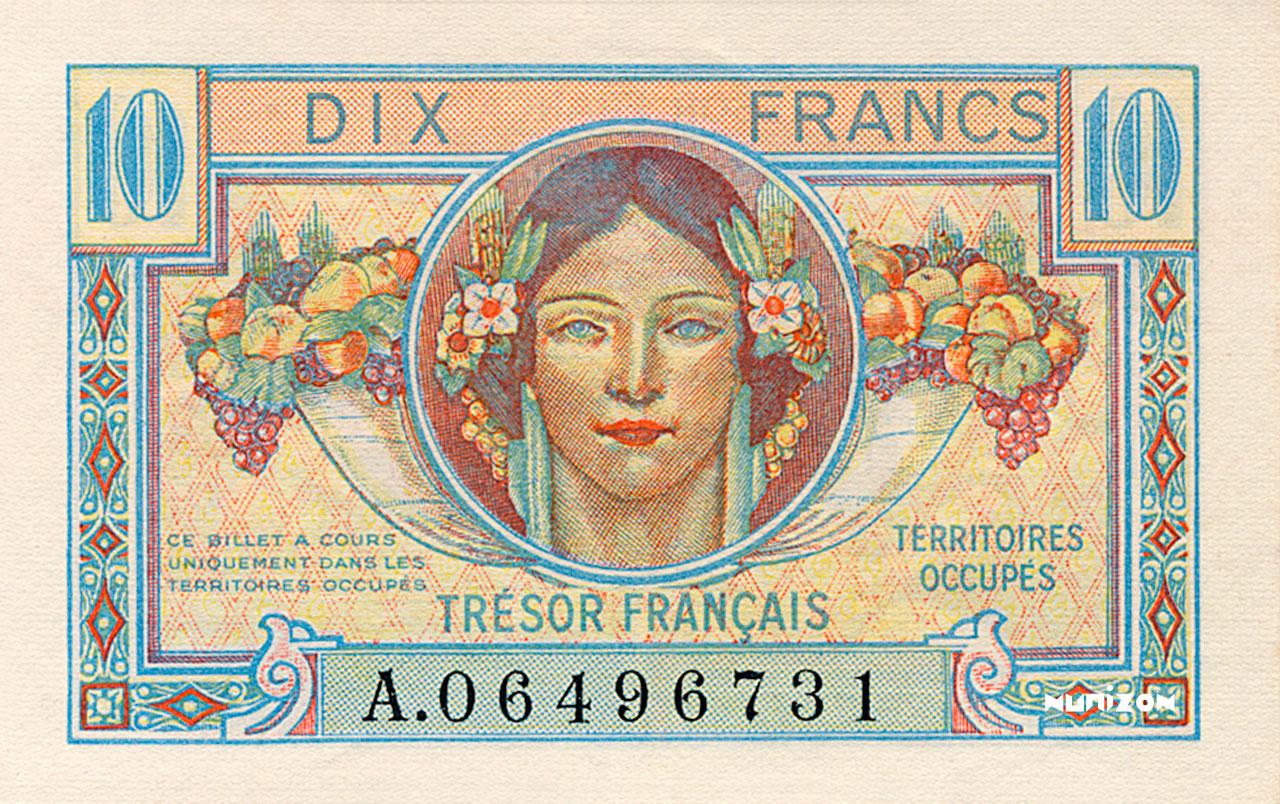 10 francs Trésor Français 1947 Pick##M7