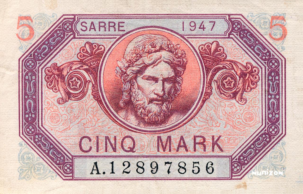 5 Mark Sarre 1947 Pick##05