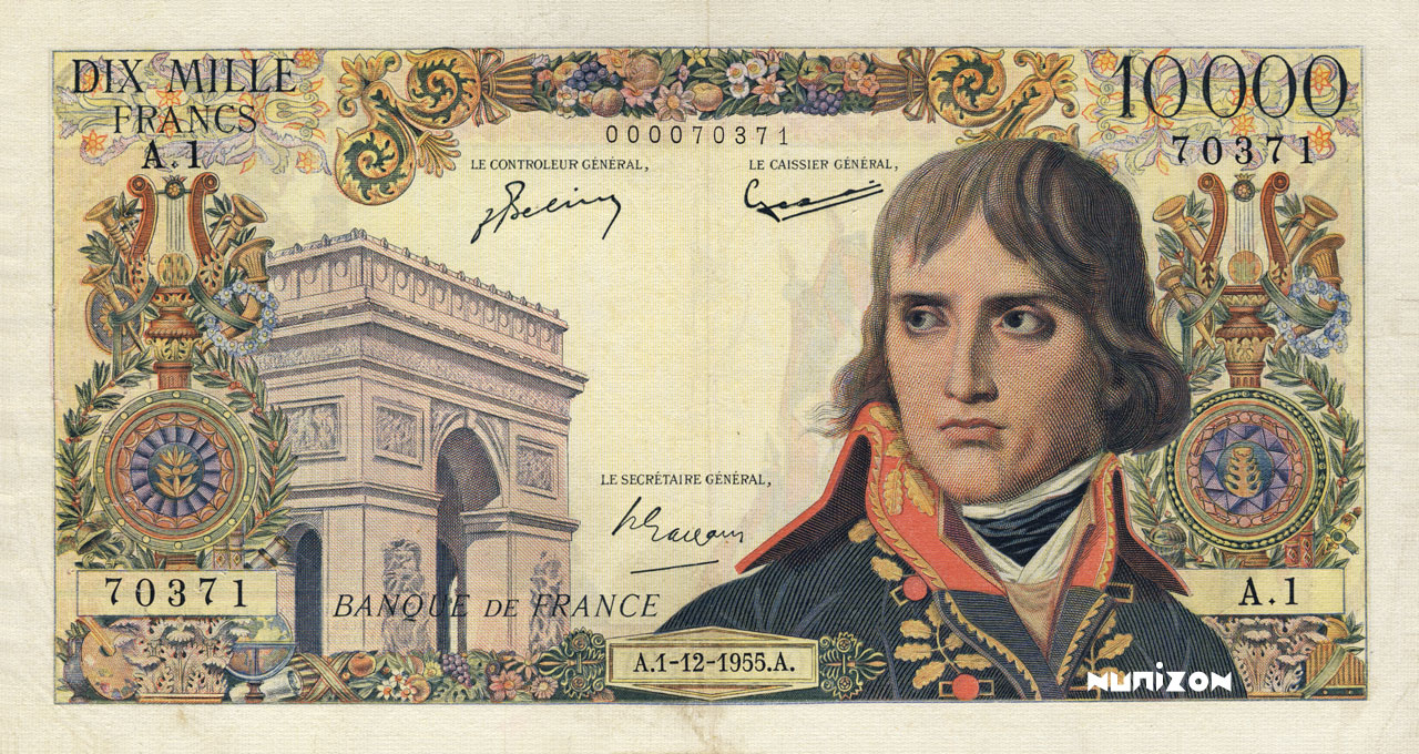 10000 francs Type 1955 Bonaparte Pick##136