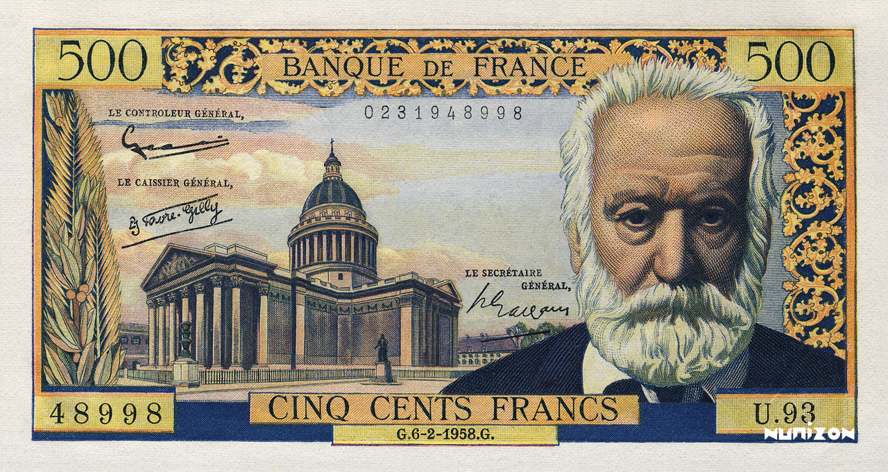 500 francs Type 1953 Victor Hugo Pick##133