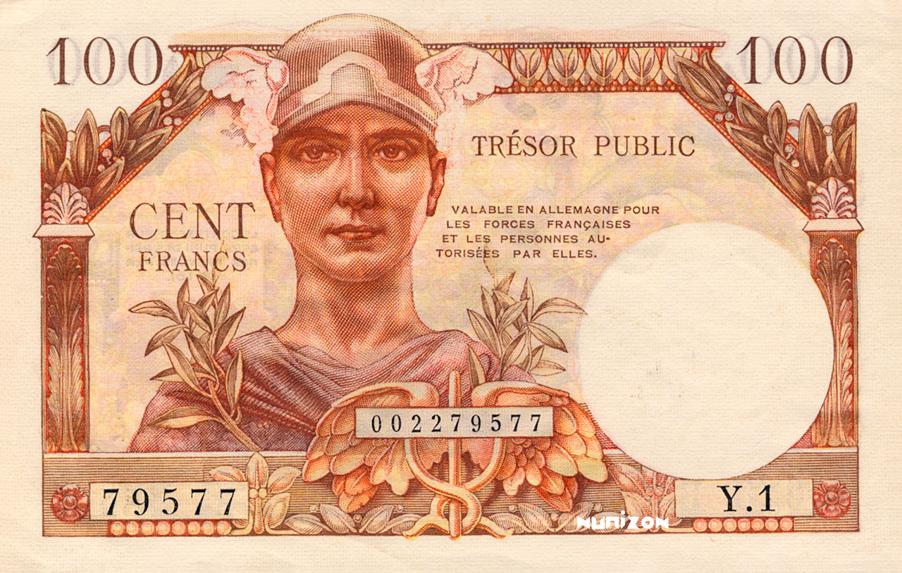 100 francs Trésor Public 1955 Pick##M11
