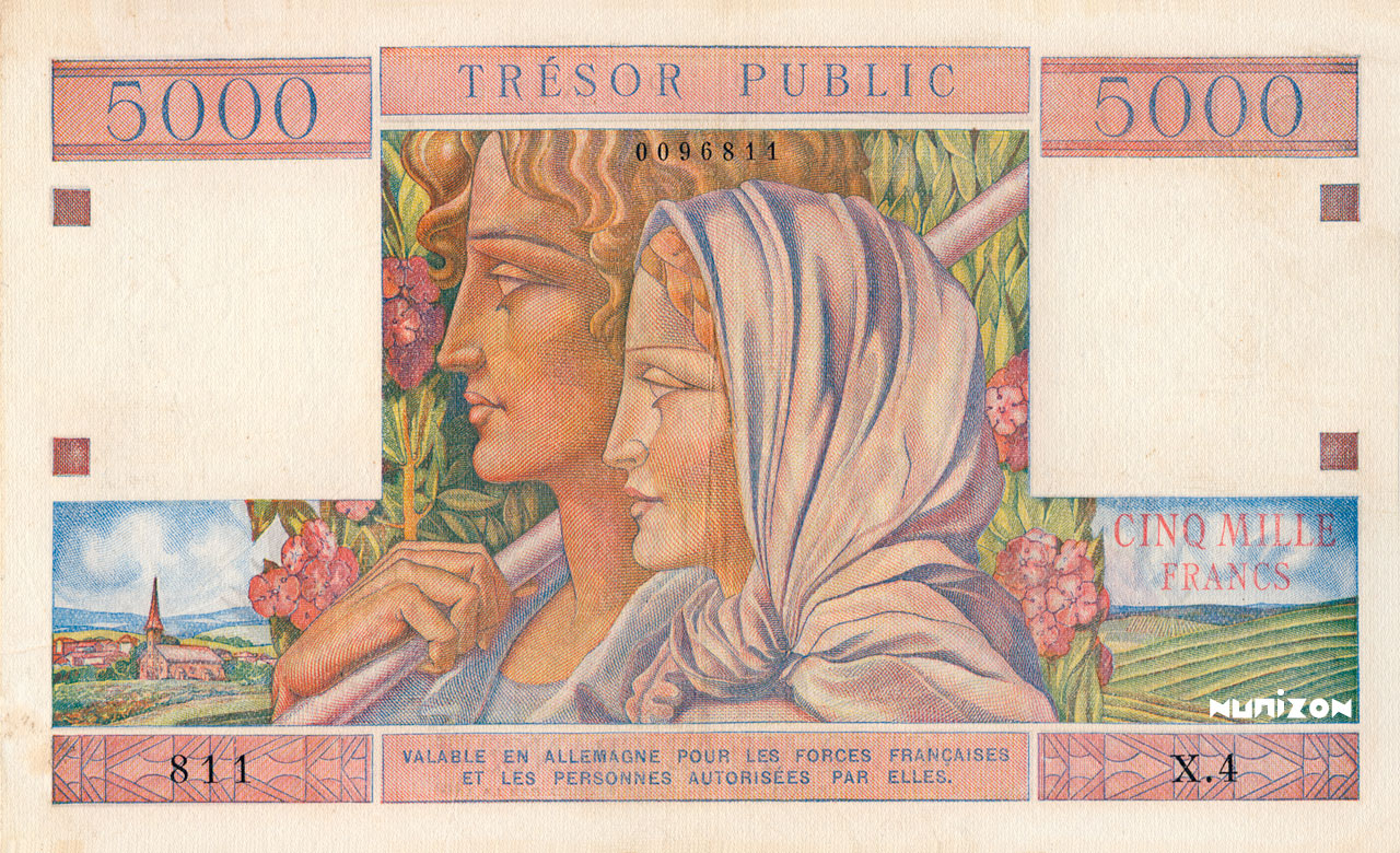 5000 francs Trésor Public 1955 Pick##M13
