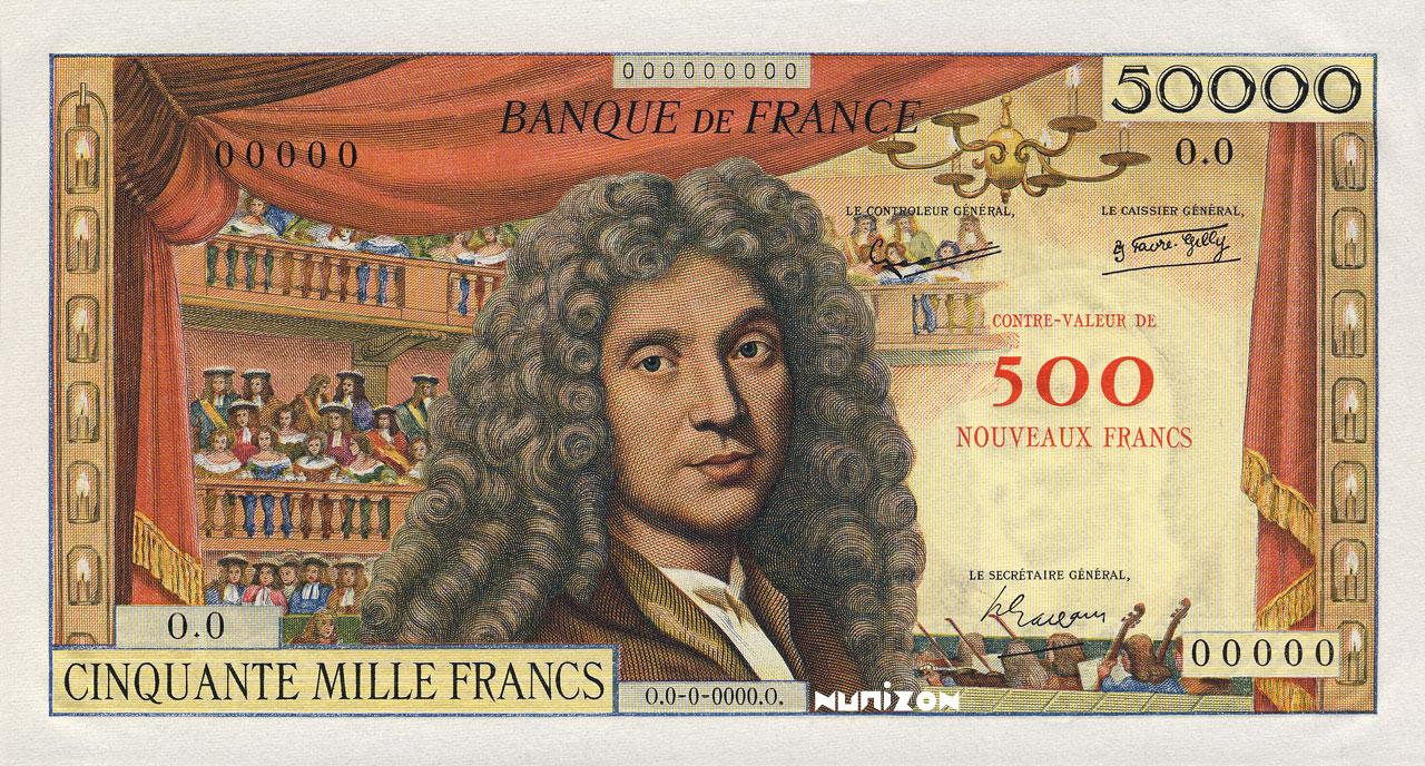 500 NF/50000 francs Molière 1957 Pick##140A