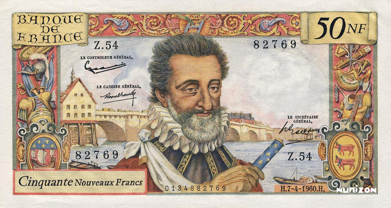 50 NF Henri IV 1959 Pick##143