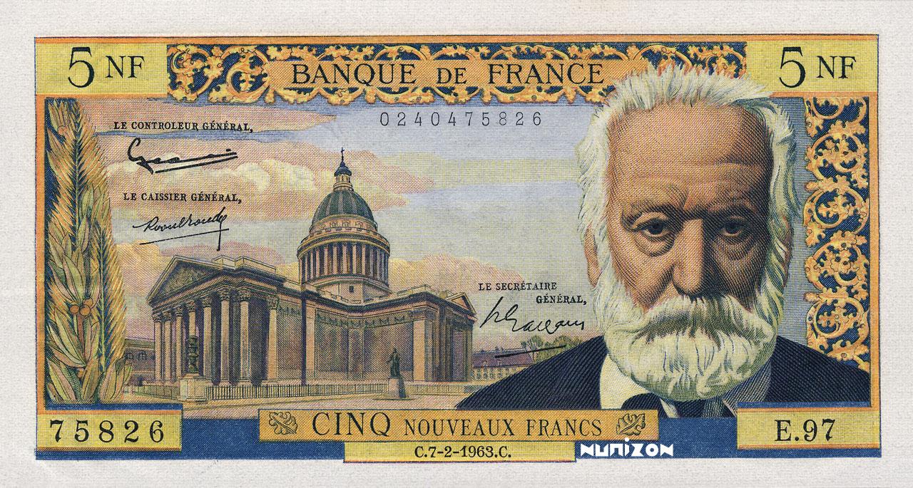 5 NF Victor Hugo 1959 Pick##141