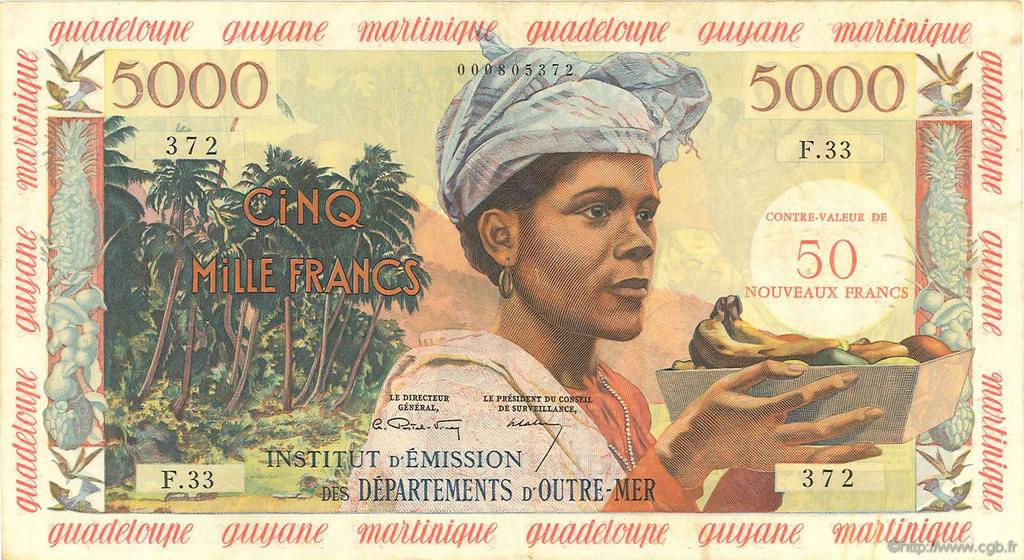 RECTO 50 NF/5000 francs Type 1955