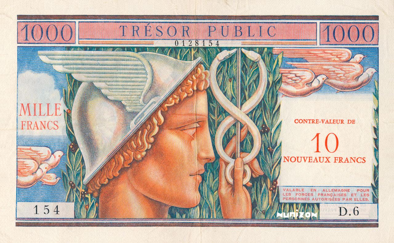 10NF/1000 francs Trésor Public 1960 Pick##M14A