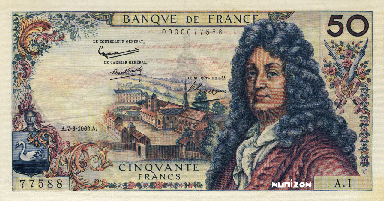 50 francs Racine 1962 Pick##148