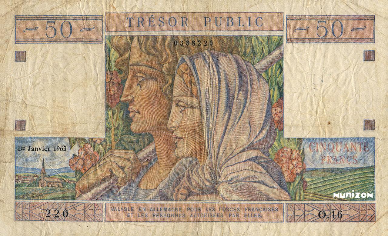 50 francs Trésor Public 1963 Pick##M15A