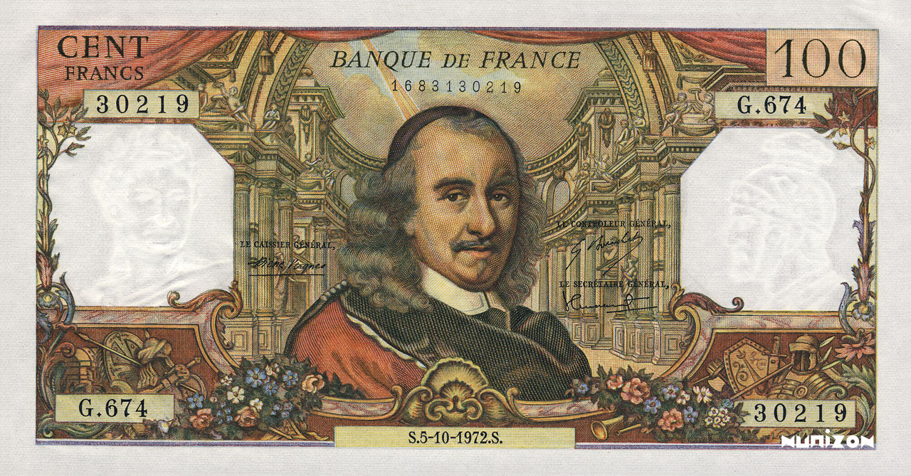 100 Francs Corneille 1964 Pick##149
