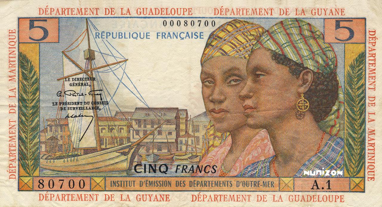 RECTO 5 francs Type 1964
