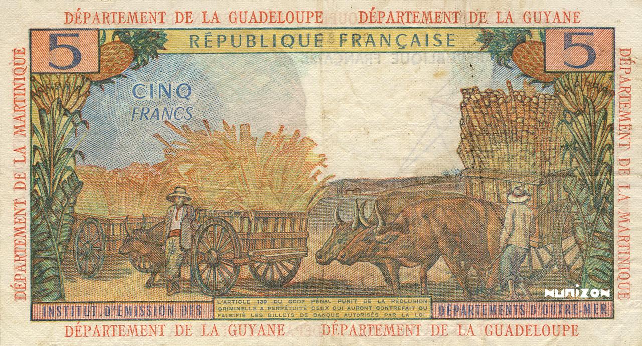 VERSO 5 francs Type 1964