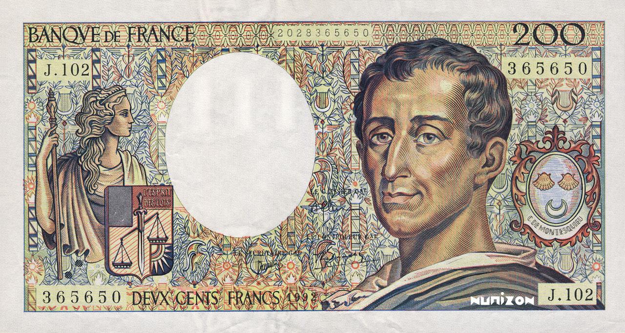 200 francs Montesquieu 1981 Pick##155