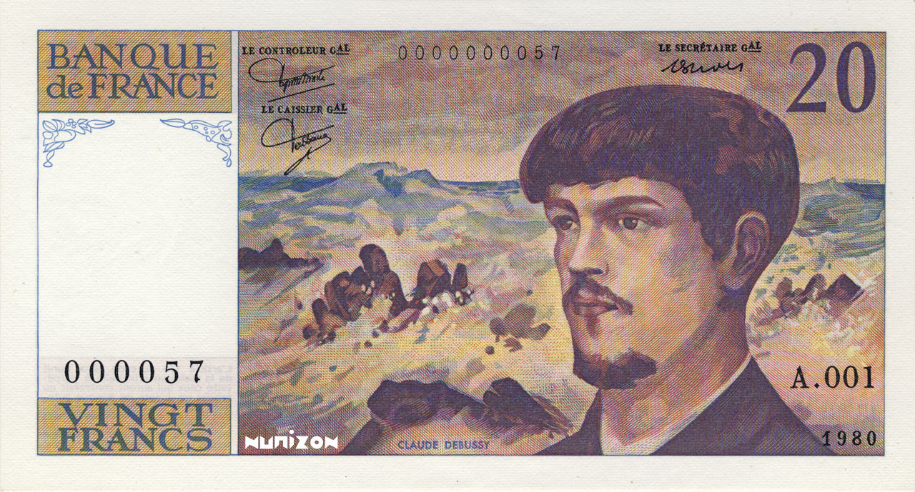 20 francs Debussy 1980 Pick##151
