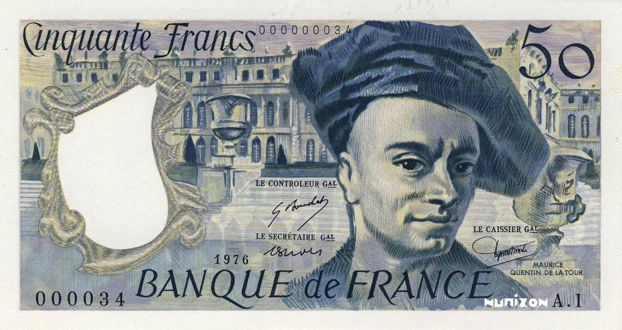 50 Francs Quentin de La Tour 1976 Pick##152