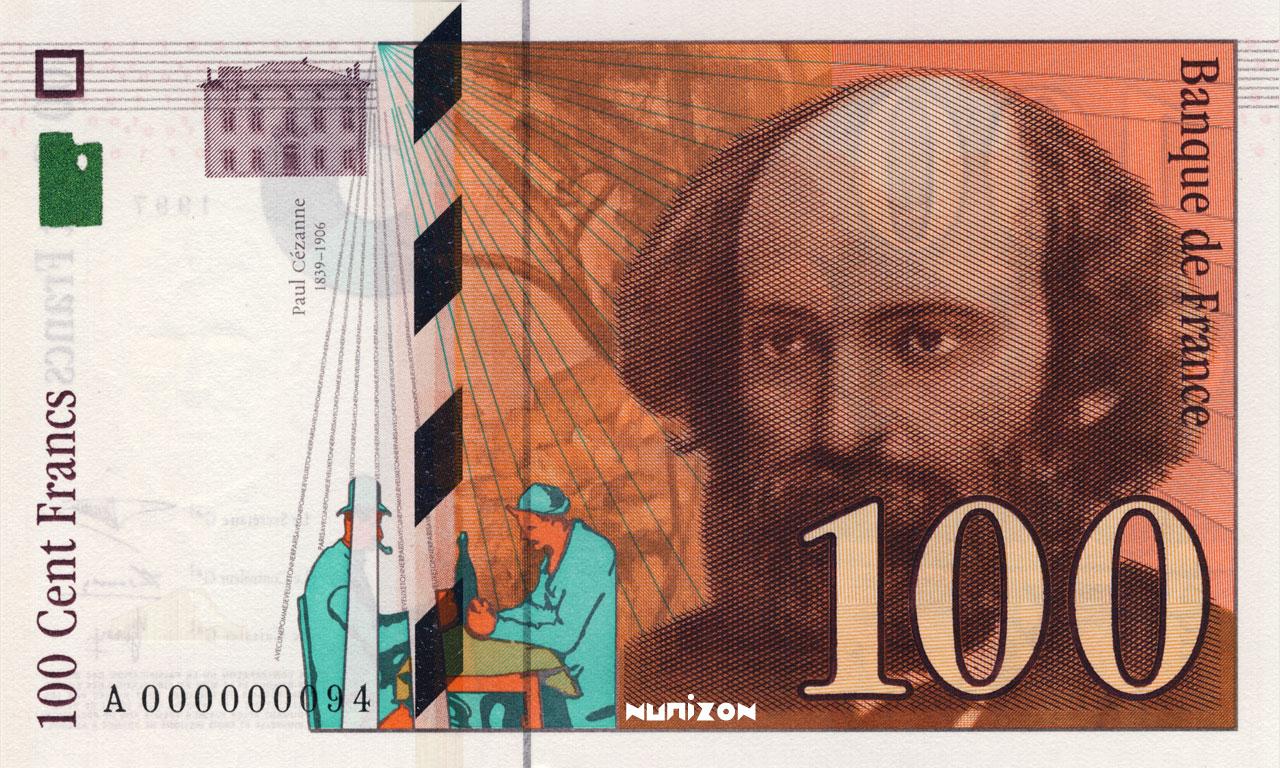 100 francs Cézanne 1997 Pick##158