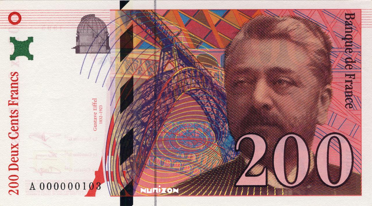 200 francs Eiffel 1995 Pick##159