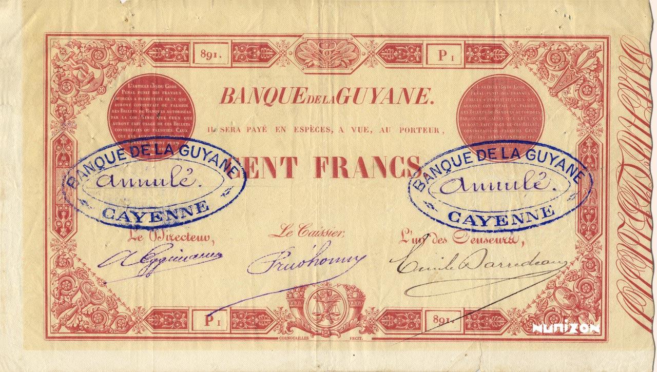 RECTO 100 francs Type 1874