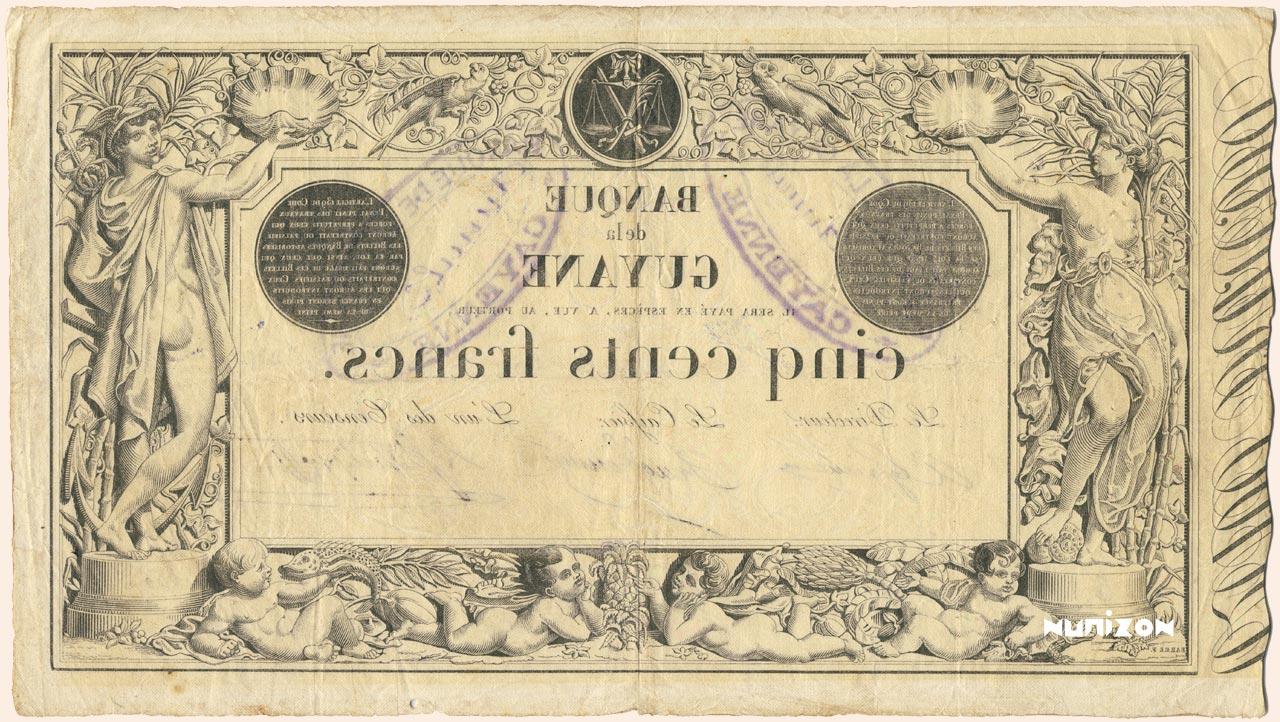 VERSO 500 francs Type 1852