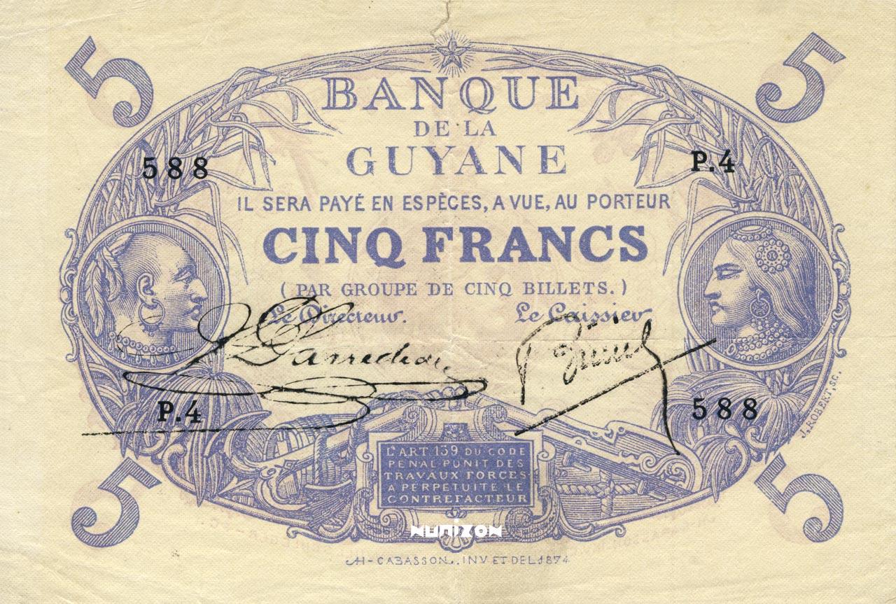RECTO 5 francs Bleu Type 1874