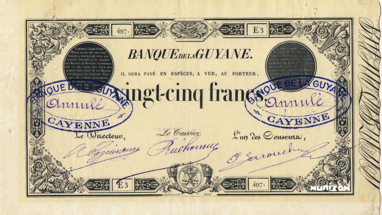 RECTO 25 francs Type 1852