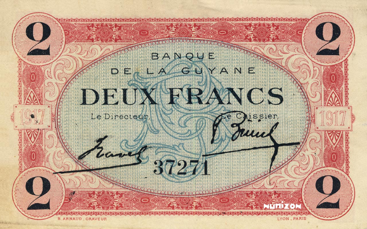 RECTO 2 francs Type 1917