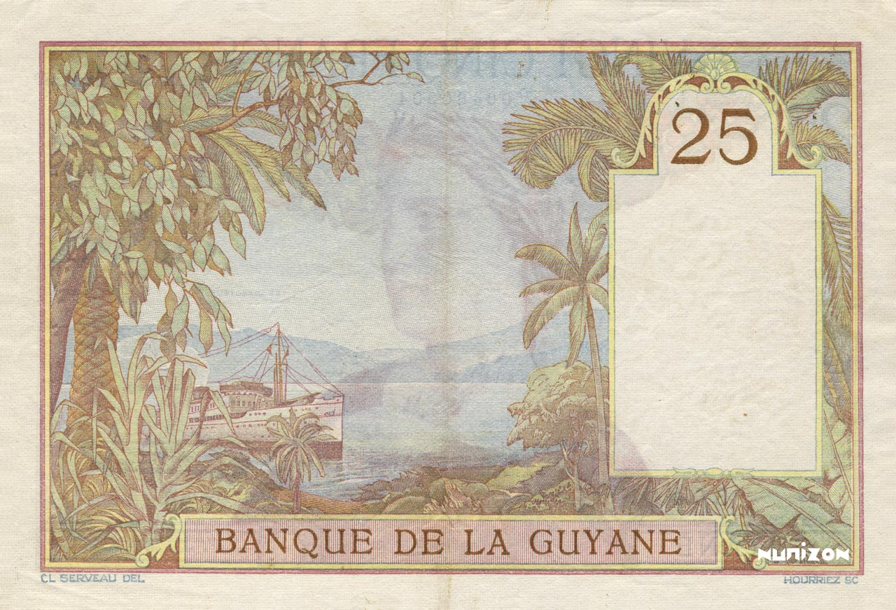 VERSO 25 francs Type 1927
