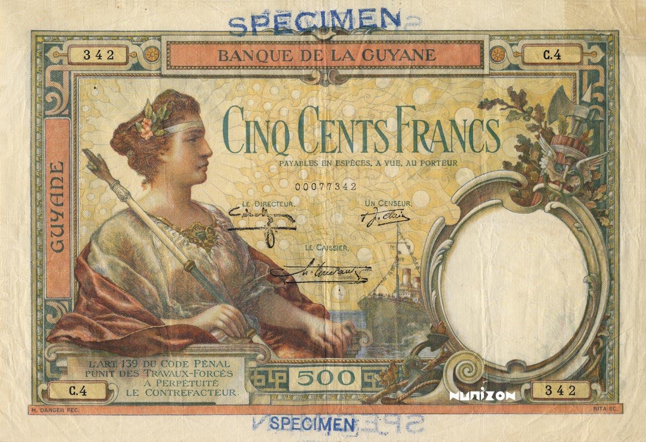 RECTO 500 francs Type 1927
