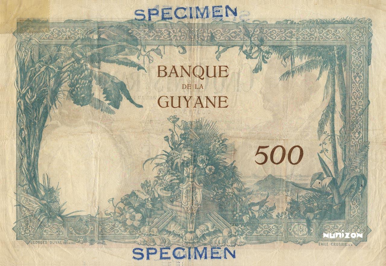 VERSO 500 francs Type 1927