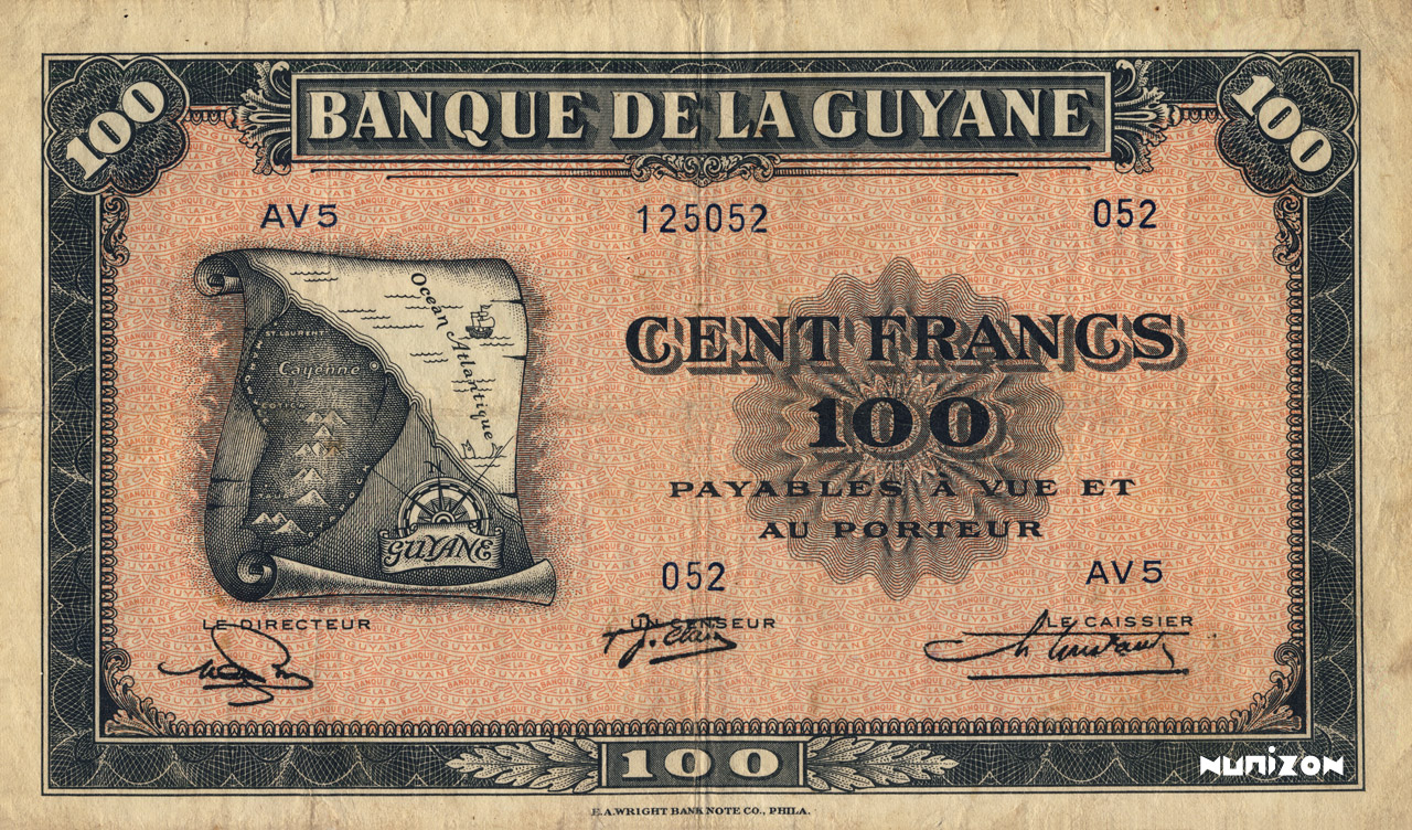 RECTO 100 francs Type 1942  (US)