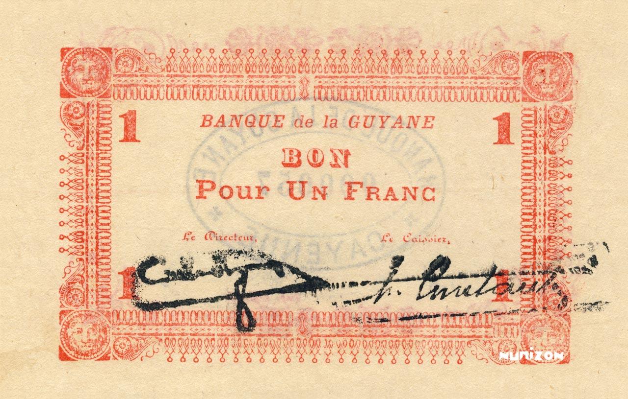 RECTO 1 franc Type 1942