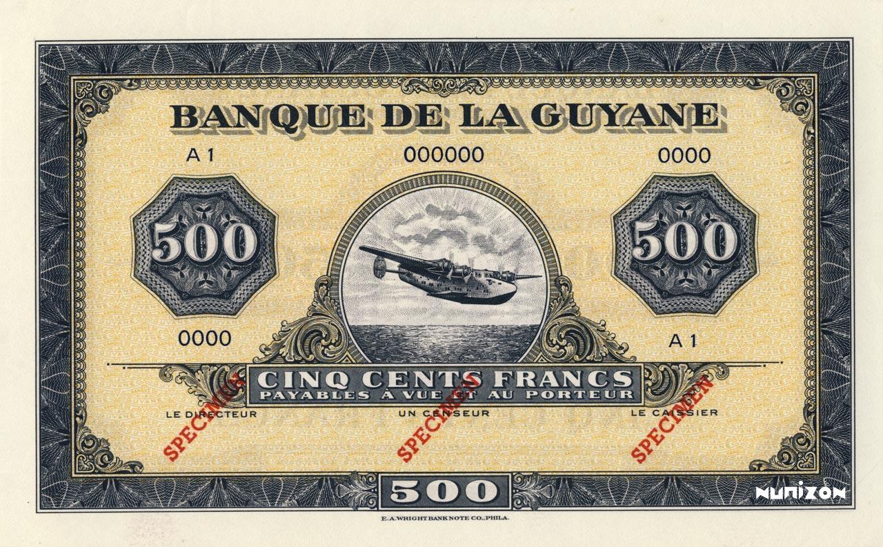 RECTO 500 francs Type 1942  (US)