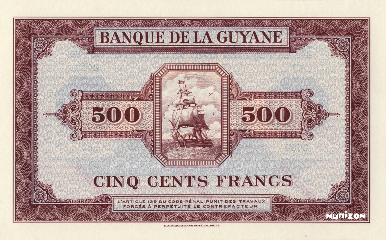 VERSO 500 francs Type 1942  (US)