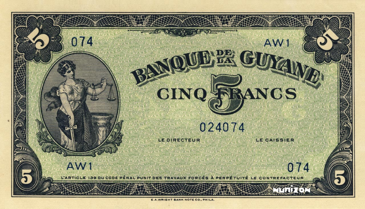 RECTO 5 francs Type 1942  (US)