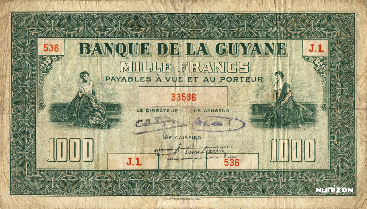 RECTO 1000 francs Type 1942  (US)