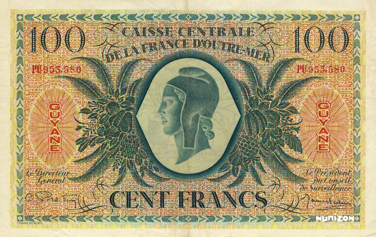 RECTO 100 francs Type 1943  (UK)