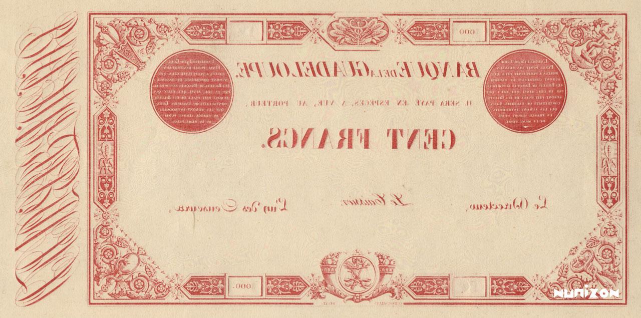 VERSO 100 francs Type 1852