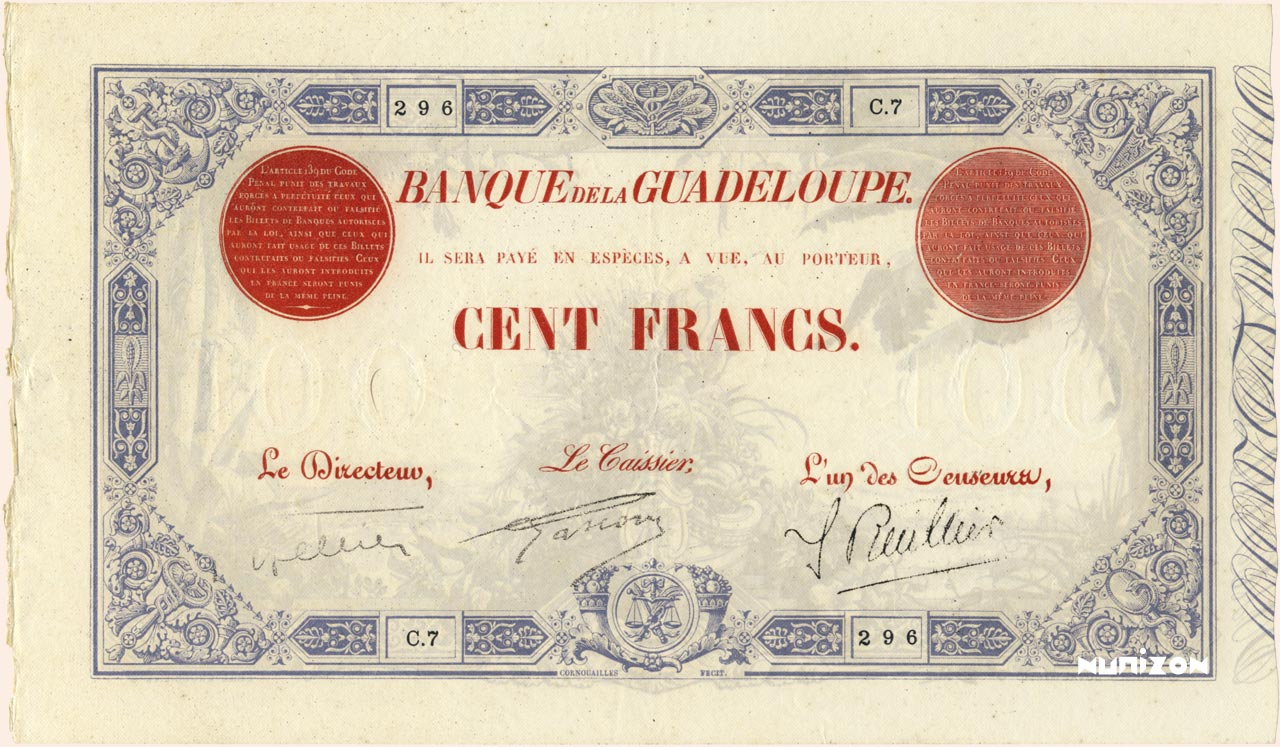 RECTO 100 francs Type 1905