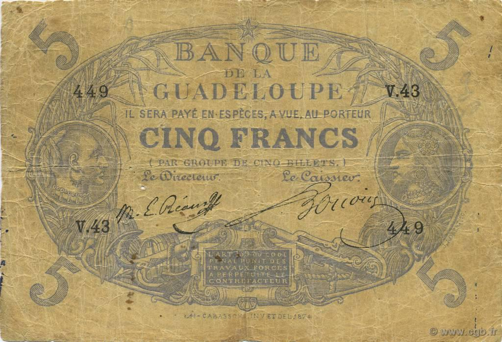 RECTO 5 francs Blue Type 1874