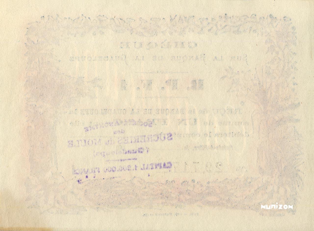 VERSO 1 franc Type 1890
