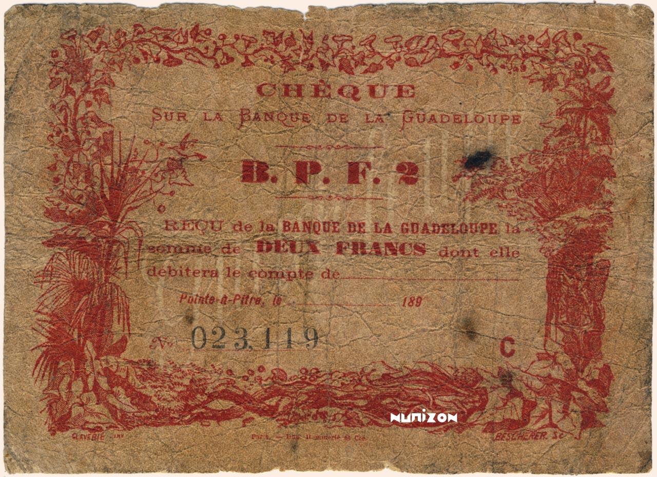 RECTO 2 francs Type 1890