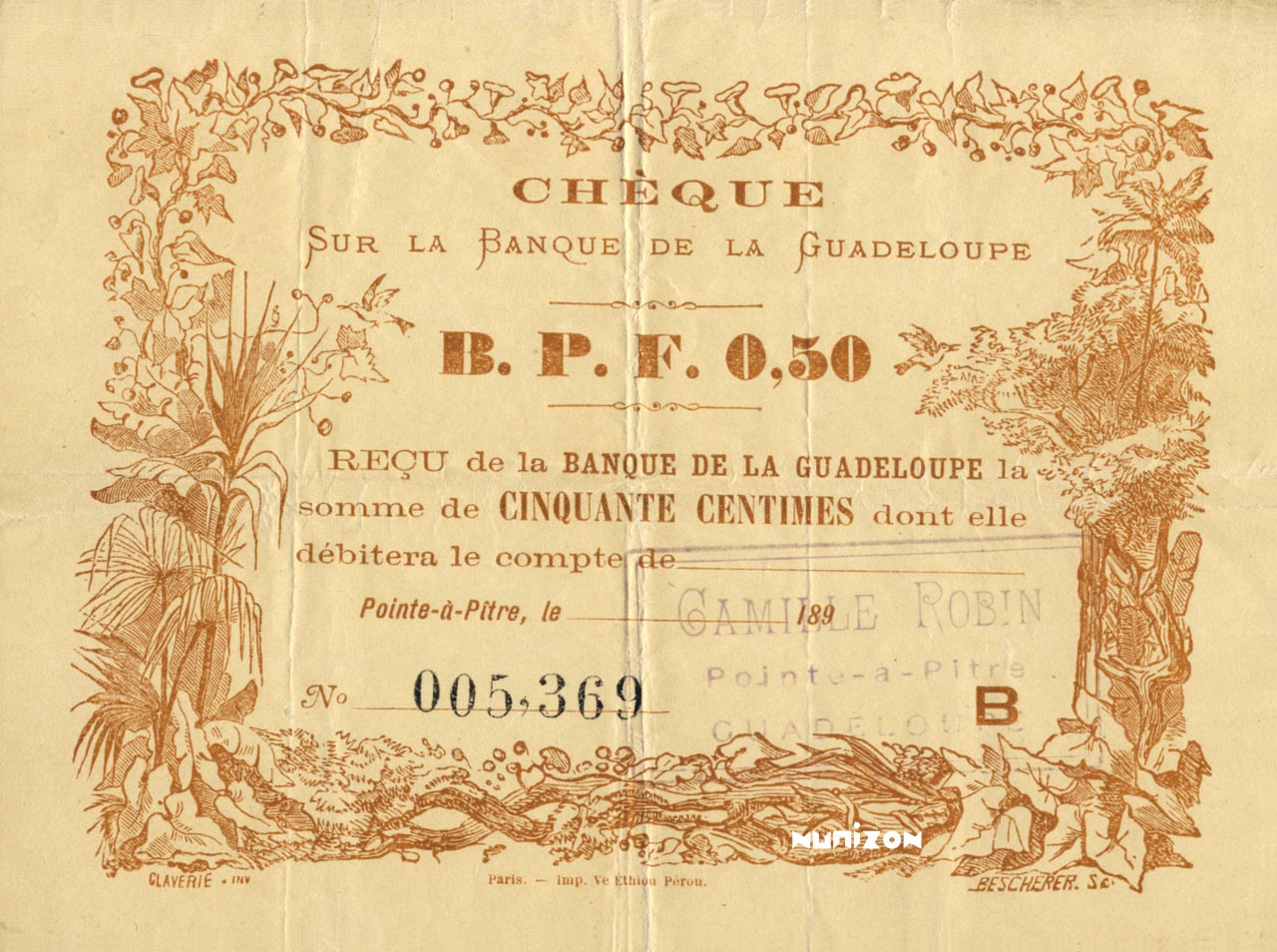 RECTO 50 centimes Type 1890