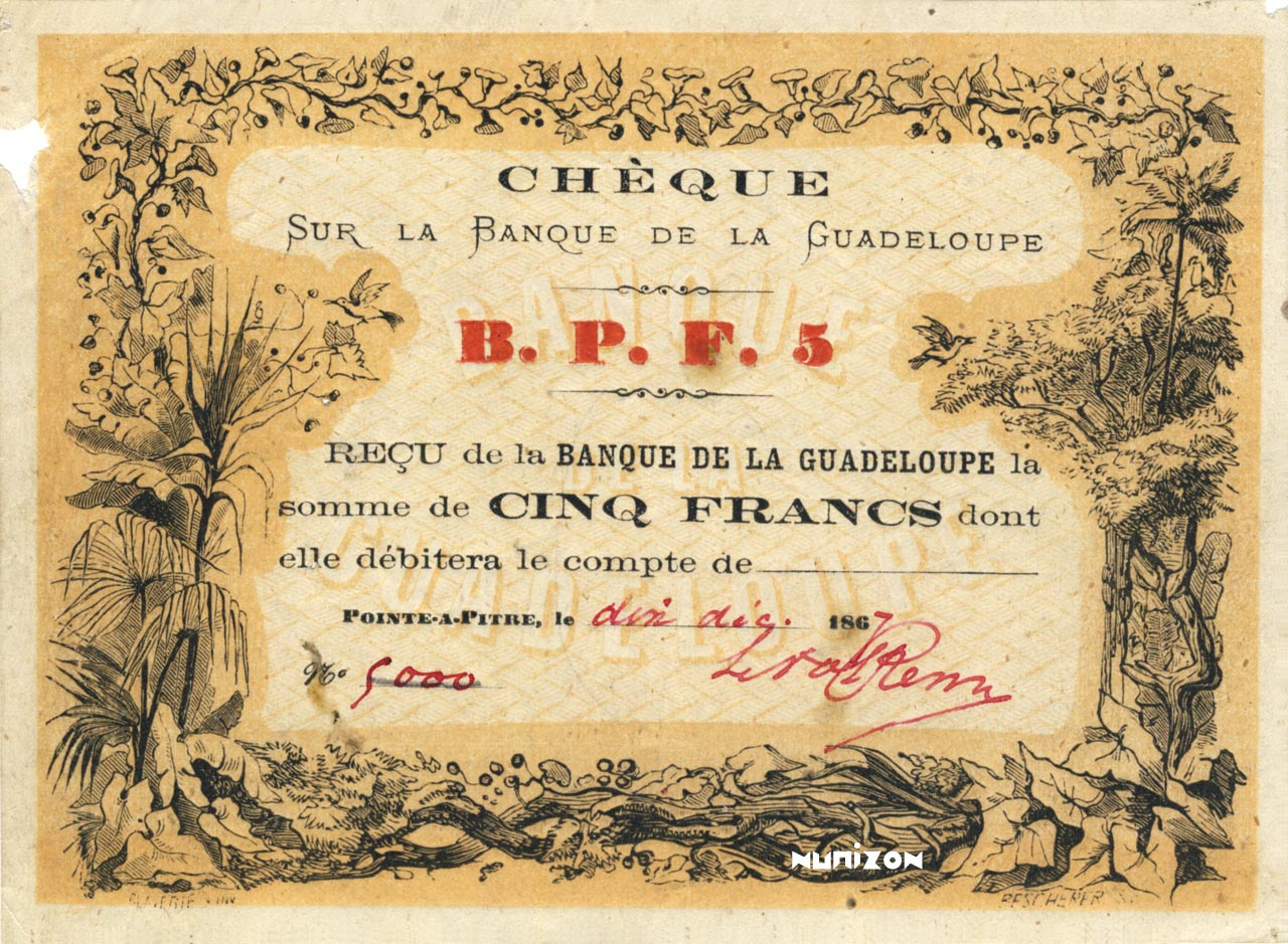 RECTO 5 francs Type 1867