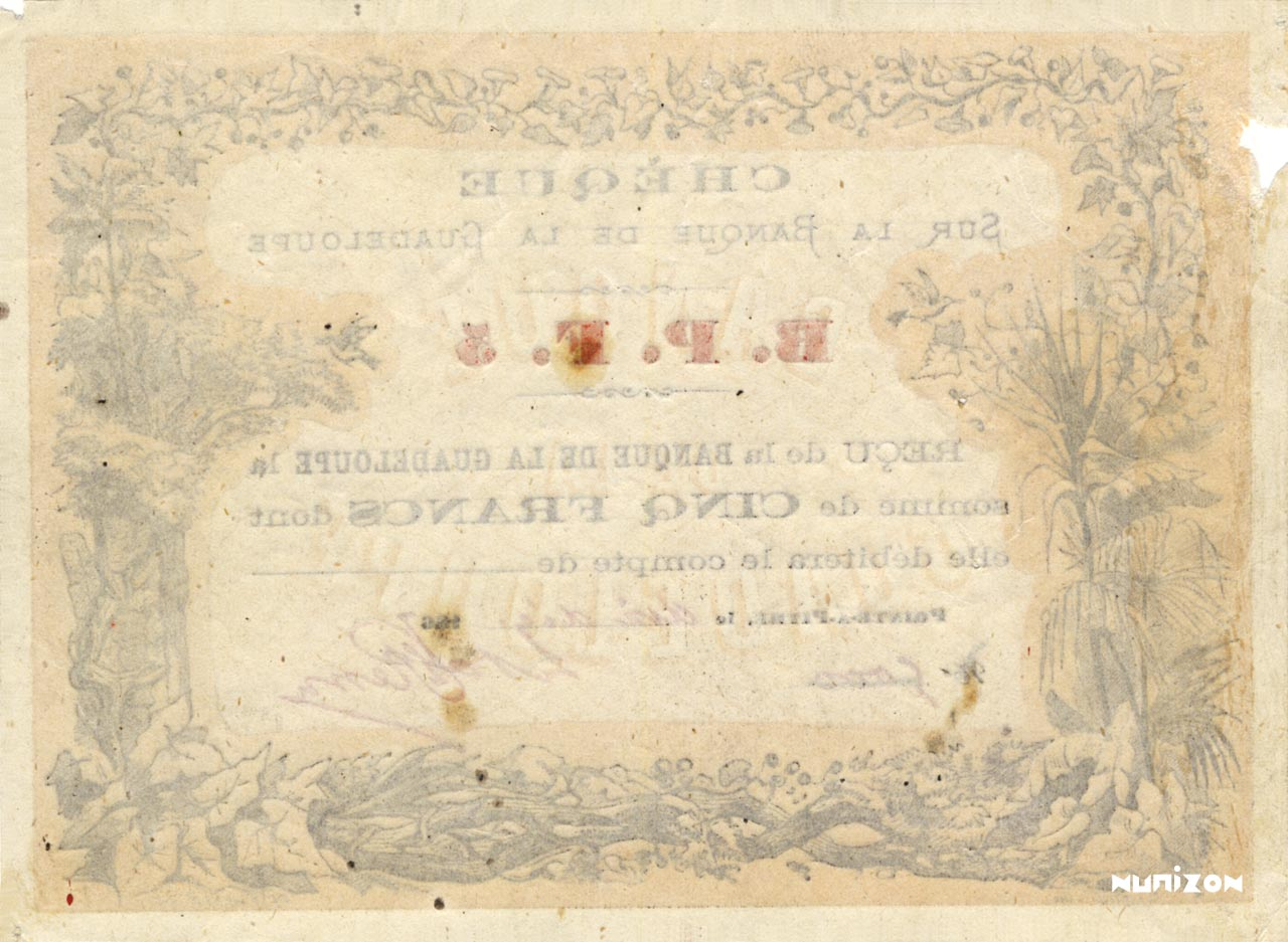 VERSO 5 francs Type 1867