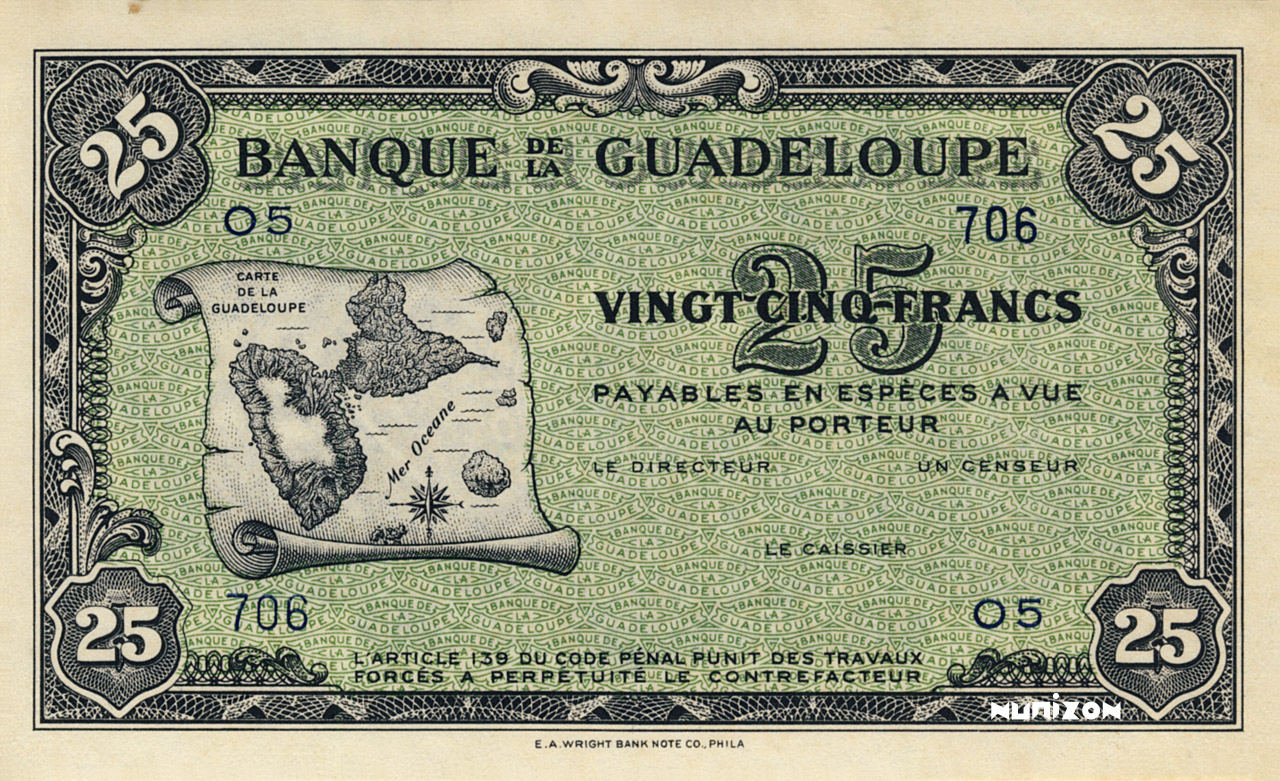 RECTO 25 francs Type 1942 (US)