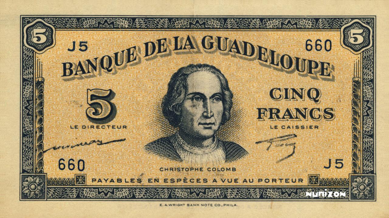 RECTO 5 francs Type 1942 (US)