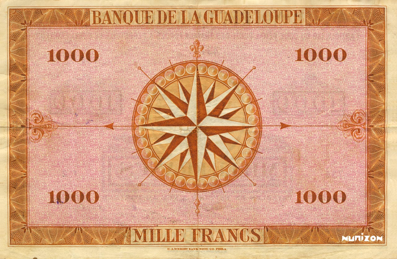 VERSO 1000 francs Type 1942 large (US)