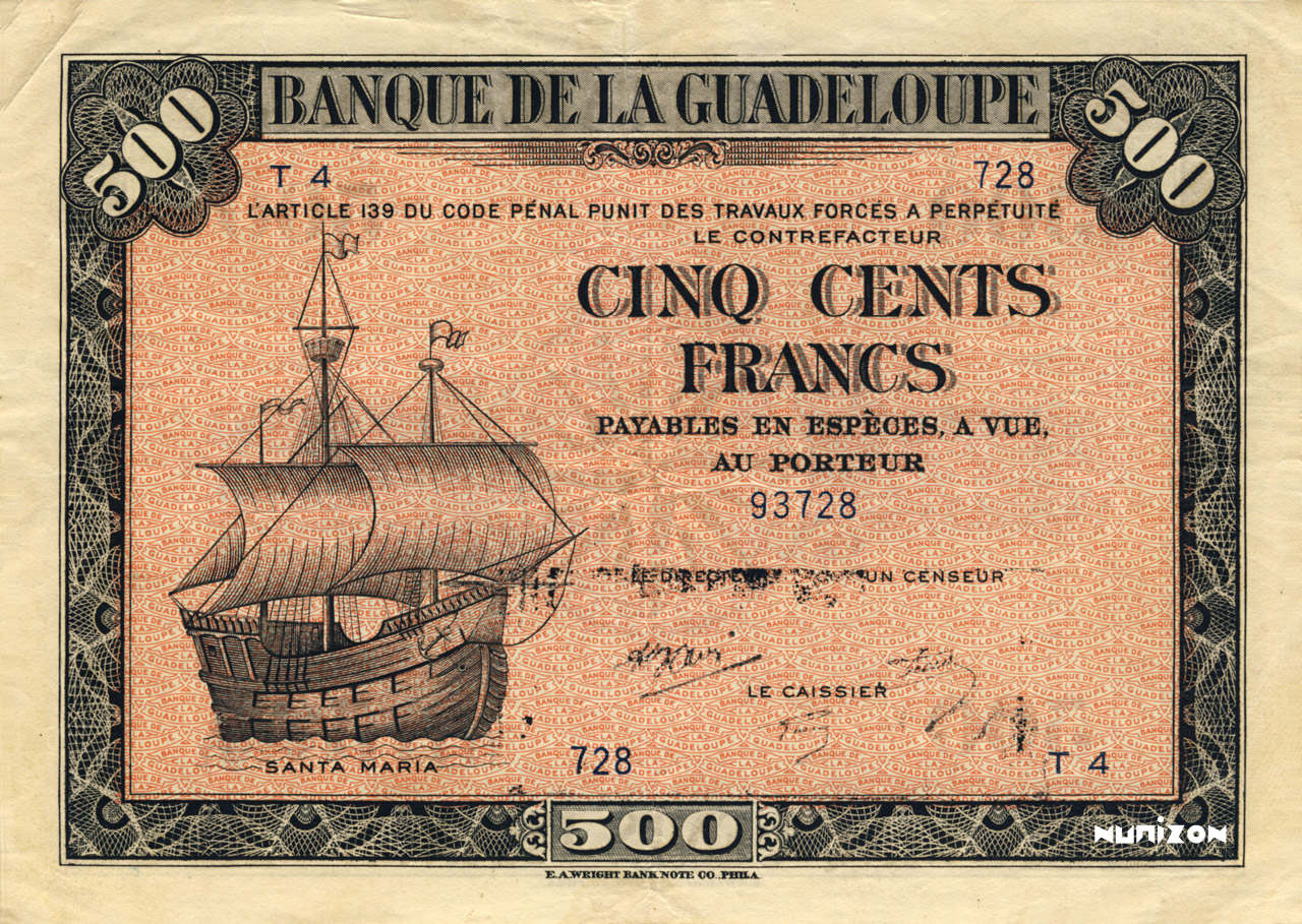 RECTO 500 francs Type 1942 grand (US)