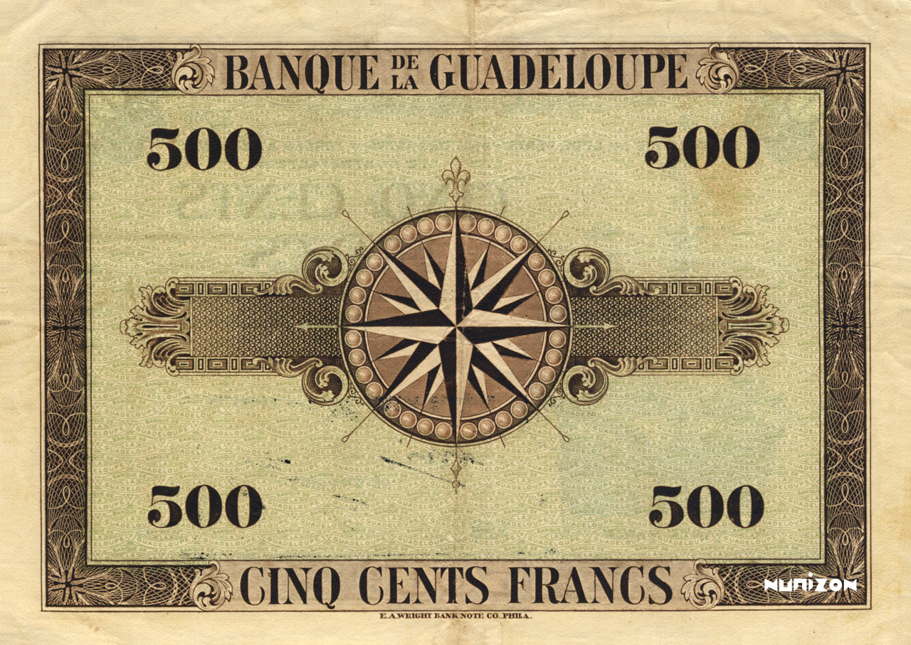 VERSO 500 francs Type 1942 grand (US)