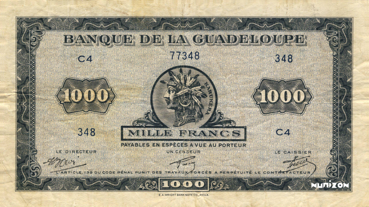 RECTO 1000 francs Type 1942 small (US)
